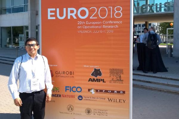 Docente unicentralista participó en la conferencia EURO 2018
