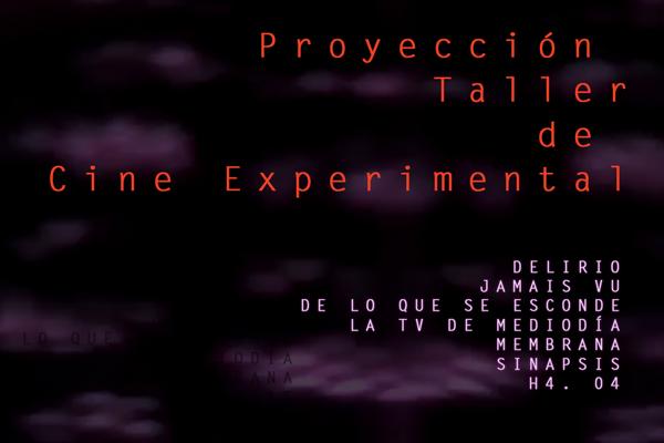 Proyección Taller de Cine Experimental