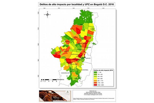 U. Central caracteriza con mapas la inseguridad en las UPZ de Bogotá