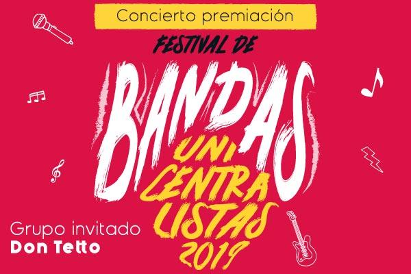Concierto de premiación del Festival de Bandas Unicentralistas 2019