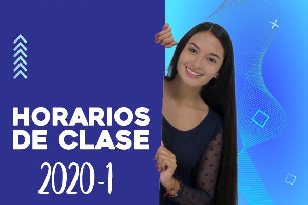 Horarios de clase 2020-1
