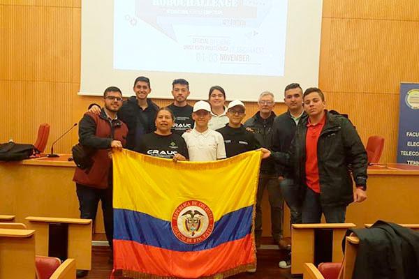 El semillero Crauc representó a Colombia en el Robochallenge Rumania 2019
