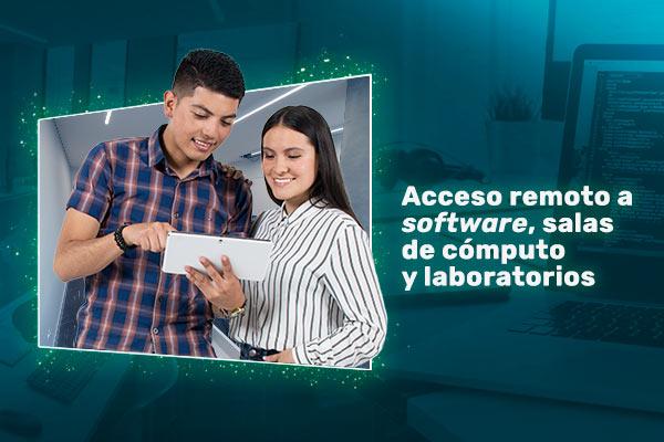 Acceso remoto a software, salas de cómputo y laboratorios