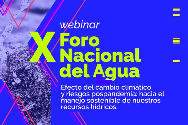 Webinar - X Foro Nacional del Agua