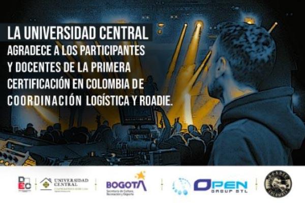Primera certificación a nivel nacional en Coordinación Logística de Eventos y Roadie