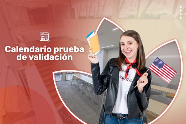 Calendario prueba de validación en inglés