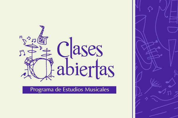 Clases abiertas de Estudios Musicales