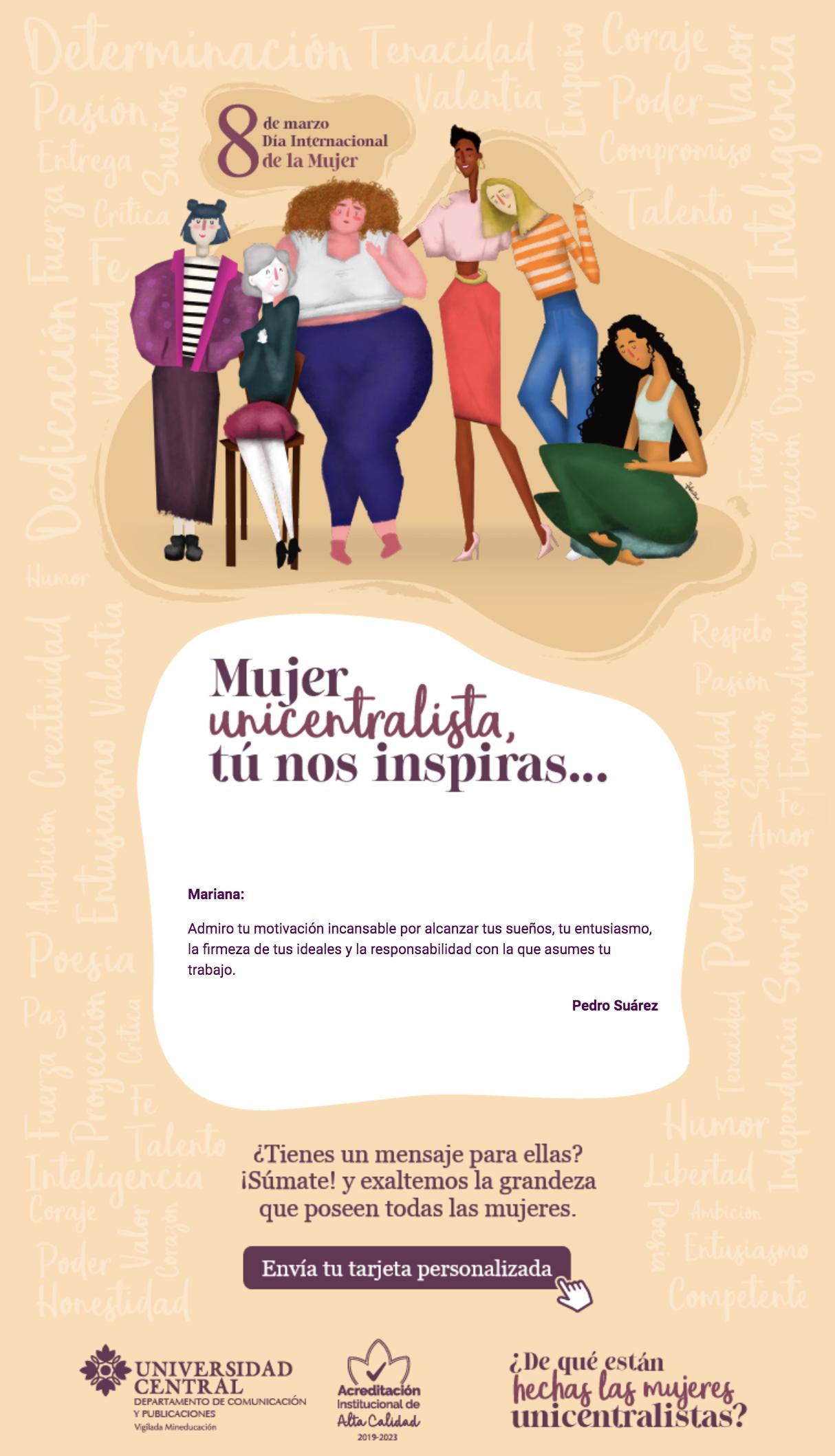 Dia Del Trabajador Mujeres digamos juntos: ¡feliz día mujeres unicentralistas
