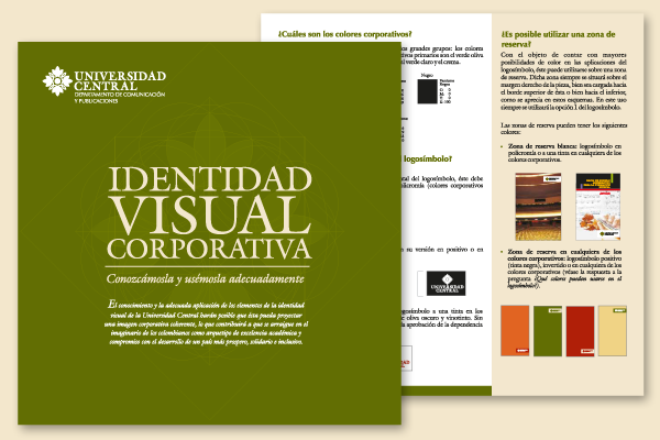 Manual de Identidad Visual Corporativa de la Universidad Central