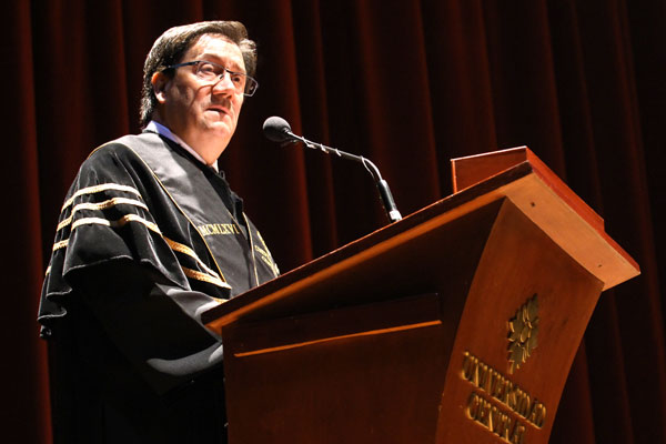 Rafael Santos Calderón, rector de la Universidad Central